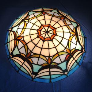 シーリングライト ステンドグラスランプ ティファニーライト 天井照明 2灯 D30cm