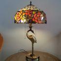 テーブルランプ ステンドグラスランプ 卓上照明 2灯 D30cm TL-12-012