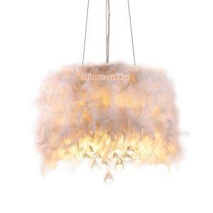 ペンダントライト 照明器具 リビング照明 天井照明 クリスタル&羽付き インテリア オシャレ 3灯