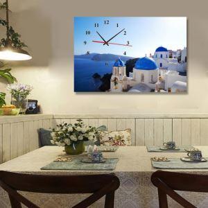 壁掛け時計 壁絵画時計 静音時計 壁飾り おしゃれ 1枚パネル 海