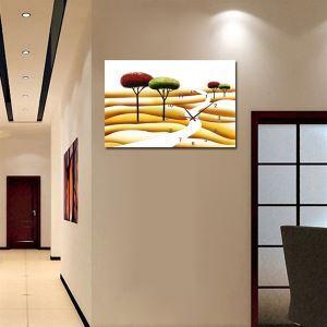 壁掛け時計 壁絵画時計 静音時計 壁飾り おしゃれ 1枚パネル 砂漠