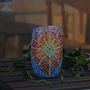 テーブルライト ステンドグラスランプ キャンドルホルダー ナイトライト ロマンティック モザイク 手作り オシャレ