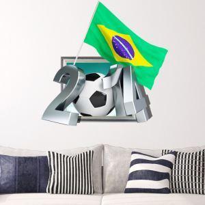 3Dウォールステッカー 転写式ステッカー 立体DIY PVCシール シート 2014ワールドカップ柄 WS02057