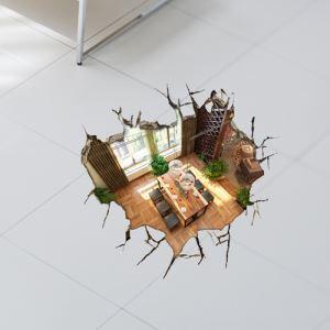 3Dウォールステッカー 転写式ステッカー 立体DIY PVCシール シート 部屋柄 WS02069