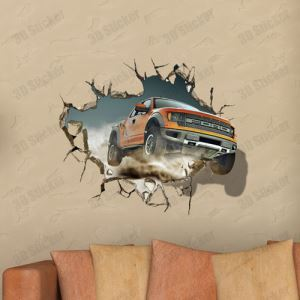 3Dウォールステッカー 転写式ステッカー 立体DIY PVCシール シート ジープ柄 WS02116