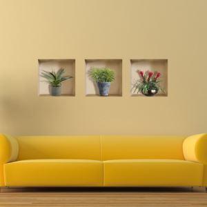 3Dウォールステッカー 転写式ステッカー 立体DIY PVCシール シート 花卉柄 WS02151