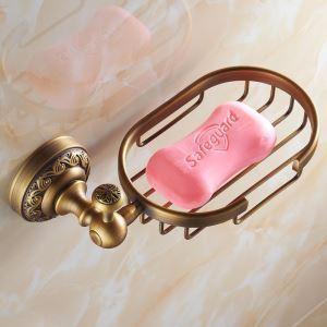 浴室ソープディッシュホルダー 石鹸ホルダー バスアクセサリー ブラス色 真鍮製 アンティーク