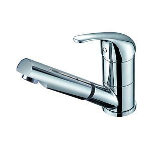 キッチン蛇口 台所蛇口 引出し式水栓 冷熱混合栓 水道蛇口 クロム