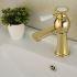 洗面蛇口 バス水栓 冷熱混合栓 立水栓 水道蛇口 手洗器水栓 金色 TI-PVD