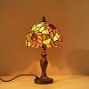 テーブルランプ ステンドグラス 卓上照明 ひまわり柄 1灯 D20/30cm