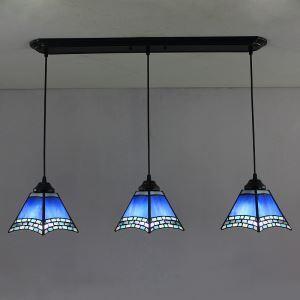 ペンダントライト ティファニーライト ステンドグラスランプ 照明器具 おしゃれ タワー型 3灯 ST06152B