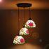 ペンダントライト ティファニーライト ステンドグラスランプ リビング照明 花型 おしゃれ 3灯 ST08013A