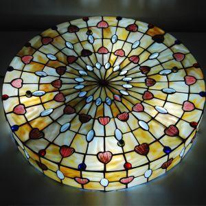シーリングライト ステンドグラスランプ ティファニーライト 天井照明 シェル柄 4灯