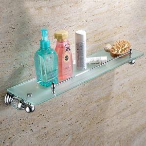化粧棚 シェルフ ガラス棚 浴室棚 バスアクセサリー 浴室収納 クロム