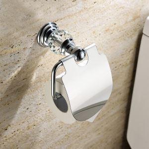 トイレットペーパーホルダー 紙巻器 トイレ用品 ペーパー収納 バスアクセサリー 真鍮&クリスタル クロム