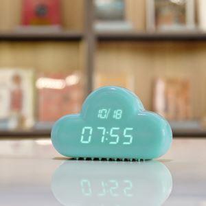 時計 置き時計 目覚まし時計 デジタル時計 LED時計 雲