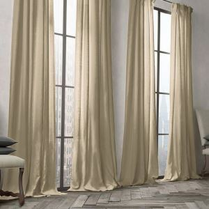 遮光カーテン 北欧カーテン オーダーカーテン 無地柄 麻&綿 3級遮光カーテン(1枚) GT027