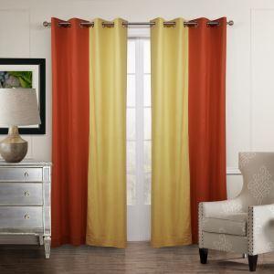 遮光カーテン オーダーカーテン 北欧カーテン 2色組み 無地柄 麻&綿(1枚) GT055