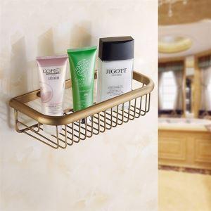 シャンプースタンド シャワーラック 浴室収納 真鍮製 ブラス色