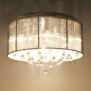 シーリングライト 照明器具 天井照明 リビング用 寝室用 クリスタル付 姫系照明 オシャレ 6灯