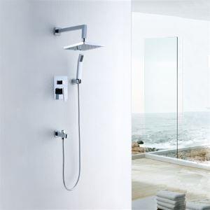埋込形シャワー水栓 レインシャワーシステム バス水栓 ヘッドシャワー+ハンドシャワー+蛇口(0572DS6107)