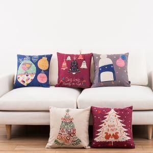 クッションカバー 抱き枕カバー 枕カバー 北欧 リネン クリスマス 5点