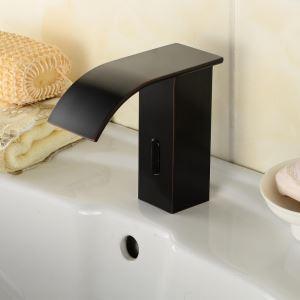 センサー水栓 自動水栓 洗面蛇口 単水栓 真鍮製 ORB