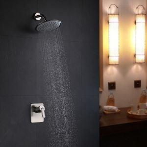 埋込形シャワー水栓 ヘッドシャワー バス蛇口 レインシャワーヘッド 混合栓 ヘアライン