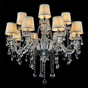 シャンデリア クリスタル リビング照明 ダイニング照明 寝室照明 豪華 12灯 LED電球対応