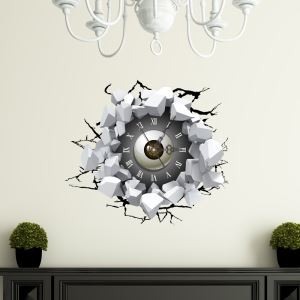 3D壁掛け時計 3Dデコレ壁掛け時計 DIYデコレ時計 静音時計 目柄