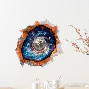 3D壁掛け時計 3Dデコレ壁掛け時計 DIYデコレ時計 静音時計 宇宙柄