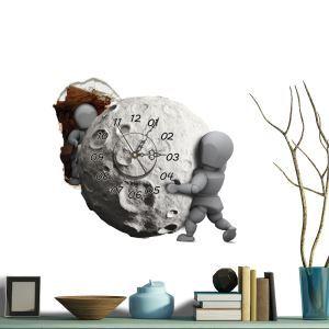 3D壁掛け時計 3Dデコレ壁掛け時計 DIYデコレ時計 静音時計 隕石柄