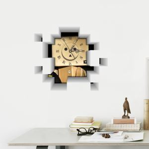 3D壁掛け時計 3Dデコレ壁掛け時計 DIYデコレ時計 静音時計