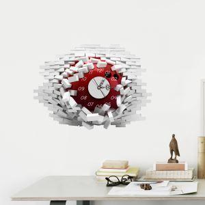 3D壁掛け時計 3Dデコレ壁掛け時計 DIYデコレ時計 静音時計 壁穴柄