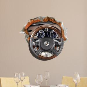 3D壁掛け時計 3Dデコレ壁掛け時計 DIYデコレ時計 静音時計 ハンドル柄