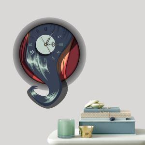 3D壁掛け時計 3Dデコレ壁掛け時計 DIYデコレ時計 静音時計 抽象的な柄