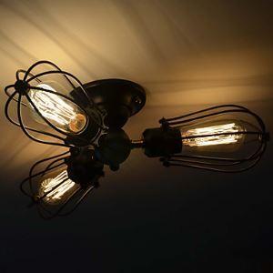 シーリングライト 鉄製照明 玄関照明 天井照明 照明器具 北欧照明 3灯