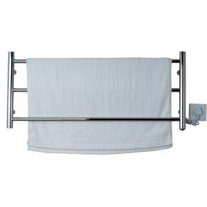壁掛けタオルウォーマー タオルヒーター タオルハンガー+簡易乾燥 #304ステンレス鋼 クロム 30W