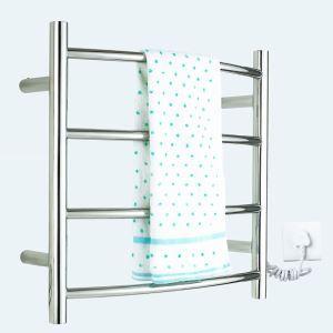 壁掛けタオルウォーマー タオルヒーター タオルハンガー+簡易乾燥 #304ステンレス鋼 クロム 40W