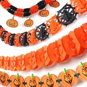 ハロウィングッズ ストリングパンプキン パンプキンガーランド パーティー装飾品 NL045