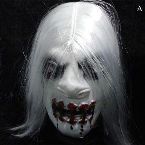 ハロウィングッズ 怖いマスク 仮面パーティーマスク 白色 NL054