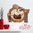 3Dウォールステッカー クリスマスシリーズ  転写式ステッカー 立体DIY PVCシール シート サンタクロース柄 WS3D271