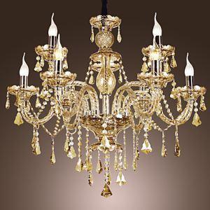 シャンデリア 照明器具 リビング照明 店舗照明 インテリア照明 クリスタル おしゃれ コニャック 9灯 LED電球対応 LT347713