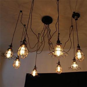 ペンダントライト 天井照明 照明器具 店舗照明 花火照明 工業Loft スパイダー型 ビンテージ 8灯 LB77163