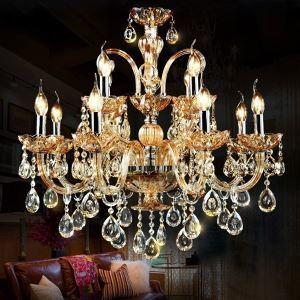 シャンデリア 照明器具 リビング照明 店舗照明 インテリア照明 クリスタル 豪華 オシャレ 豪華 12灯 LED電球対応 LT124