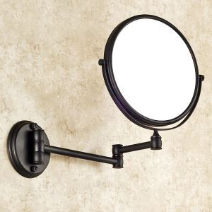 室内用ミラー 壁掛け化粧鏡 浴室収納 拡大鏡付き スイング可能 ORB バスアクセサリー YWA006