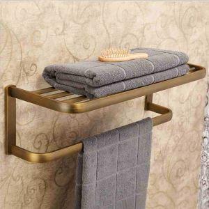 浴室タオルラック タオル掛け タオル収納 壁掛けハンガー バスアクセサリー アンティーク YWA050