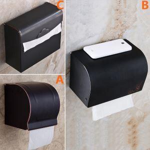 トイレットペーパーボックス ペーパーホルダー バスアクセサリー 真鍮製 黒色