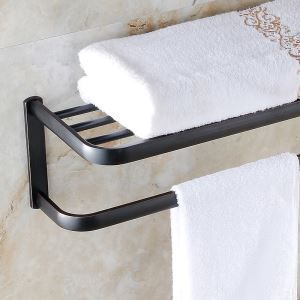 浴室タオルラック タオル掛け タオル収納 壁掛けハンガー ORB バスアクセサリー YWA077